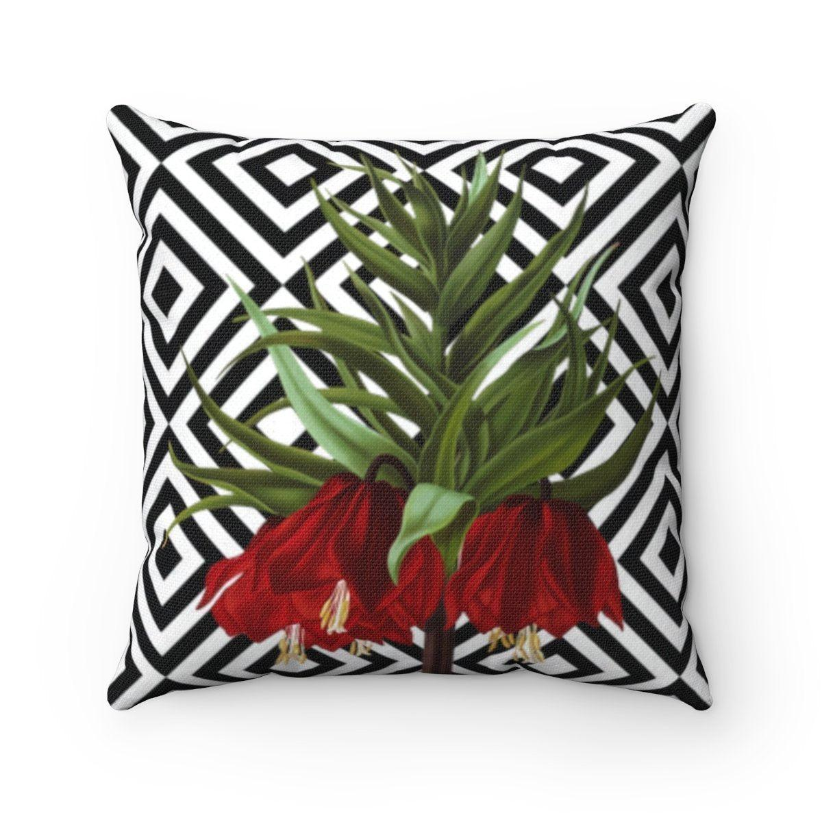 Luxury Floral abstract decorative cushion cover-Home Decor - Decorative Accents - Pillows & Throws - Decorative Pillows-Maison d'Elite-14x14-Très Elite