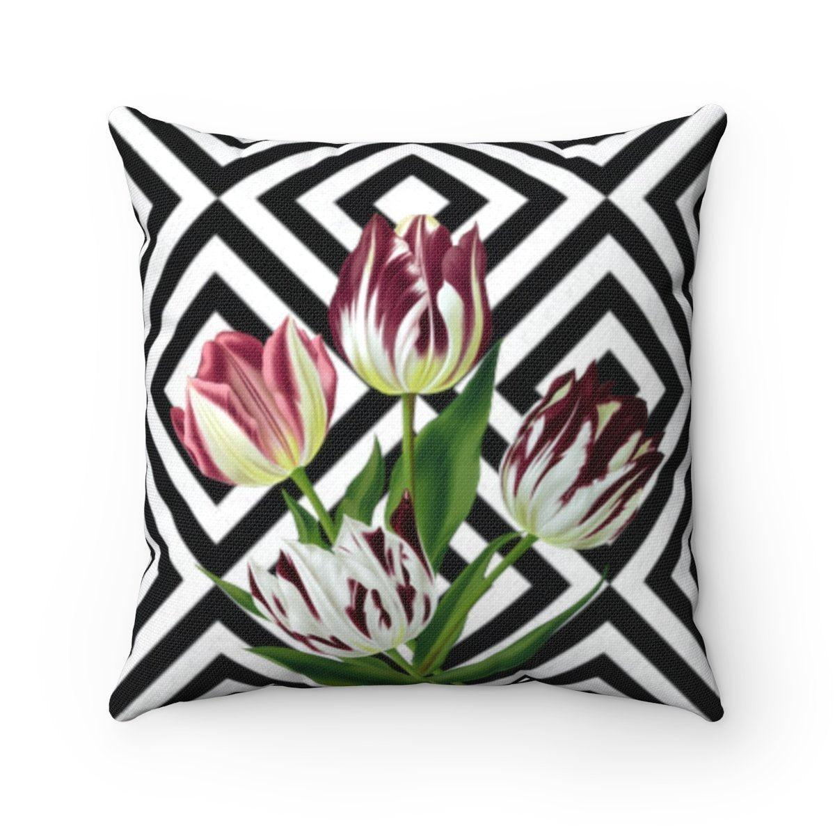 Luxury | Floral abstract decorative cushion cover-Home Decor - Decorative Accents - Pillows & Throws - Decorative Pillows-Maison d'Elite-14x14-Très Elite