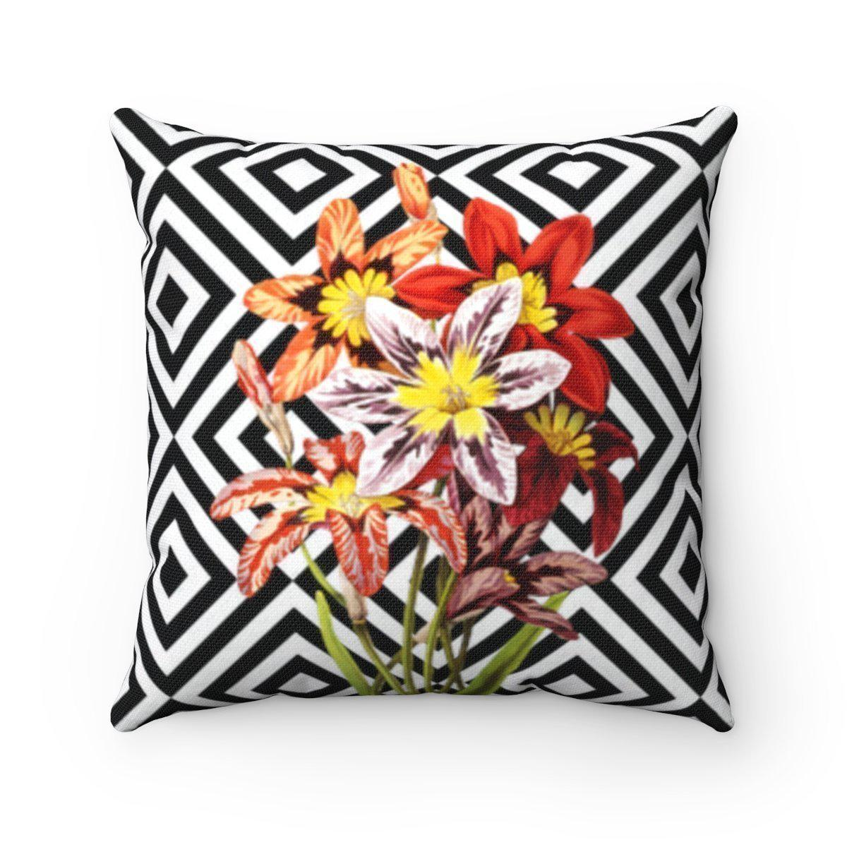 Luxury Floral abstract decorative cushion cover-Home Decor - Decorative Accents - Pillows & Throws - Decorative Pillows-Maison d'Elite-16x16-Très Elite
