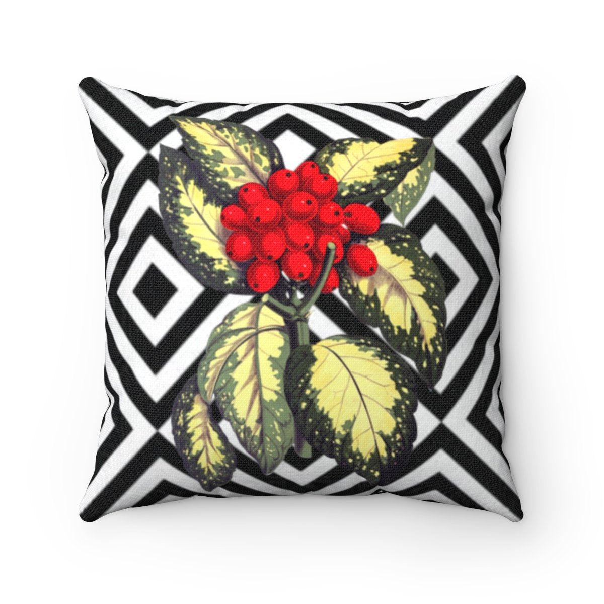 Luxury fruits abstract decorative cushion cover-Home Decor - Decorative Accents - Pillows & Throws - Decorative Pillows-Maison d'Elite-14x14-Très Elite