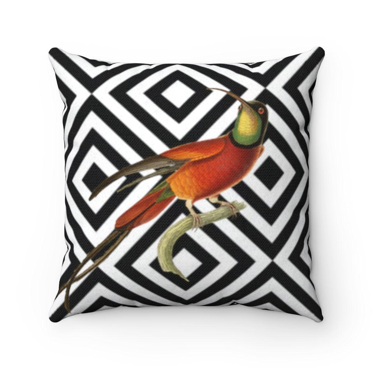Luxury | humming bird abstract decorative cushion cover-Home Decor-Maison d'Elite-14x14-Très Elite