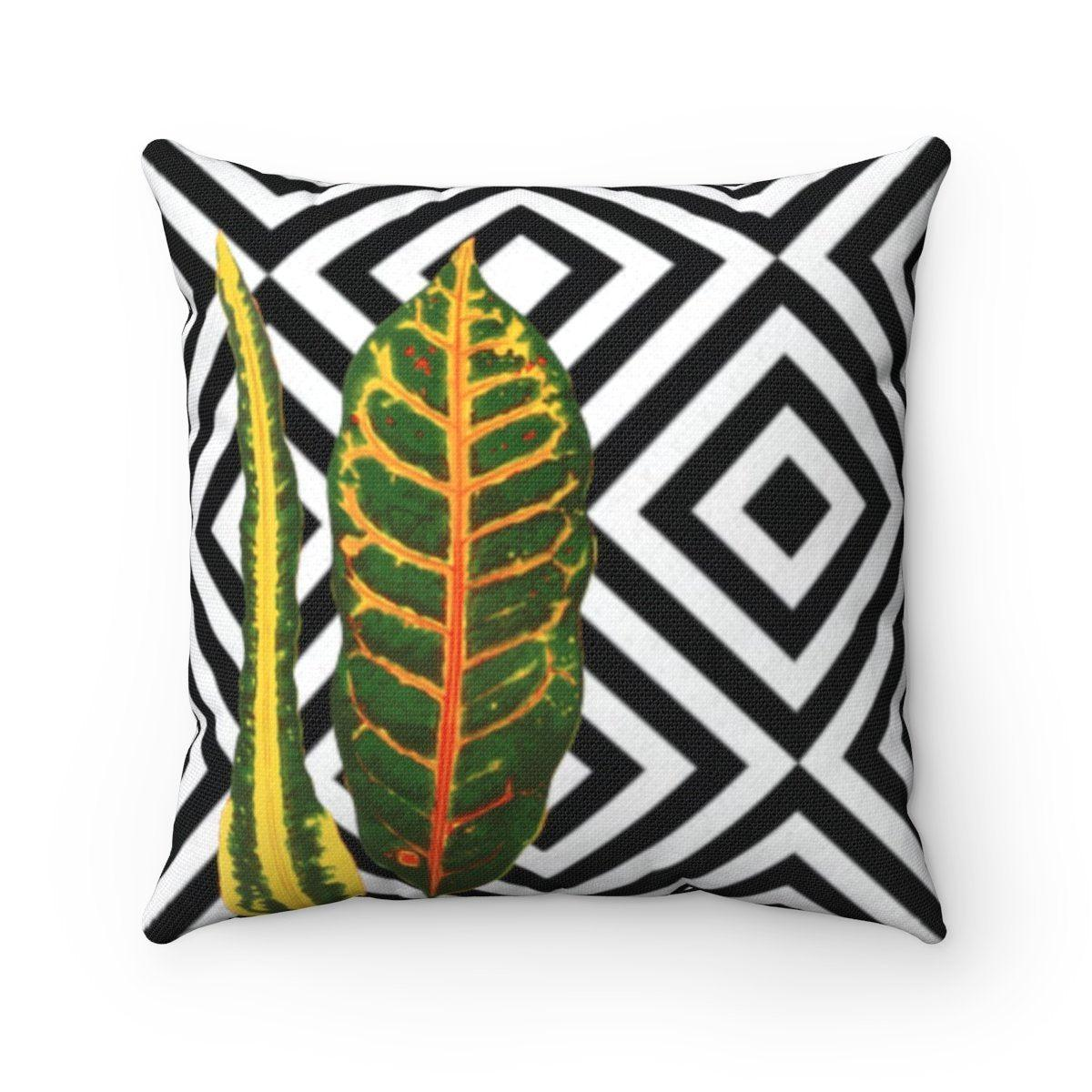Luxury | jungle | tropical | floral abstract decorative cushion cover-Home Decor - Decorative Accents - Pillows & Throws - Decorative Pillows-Maison d'Elite-14x14-Très Elite