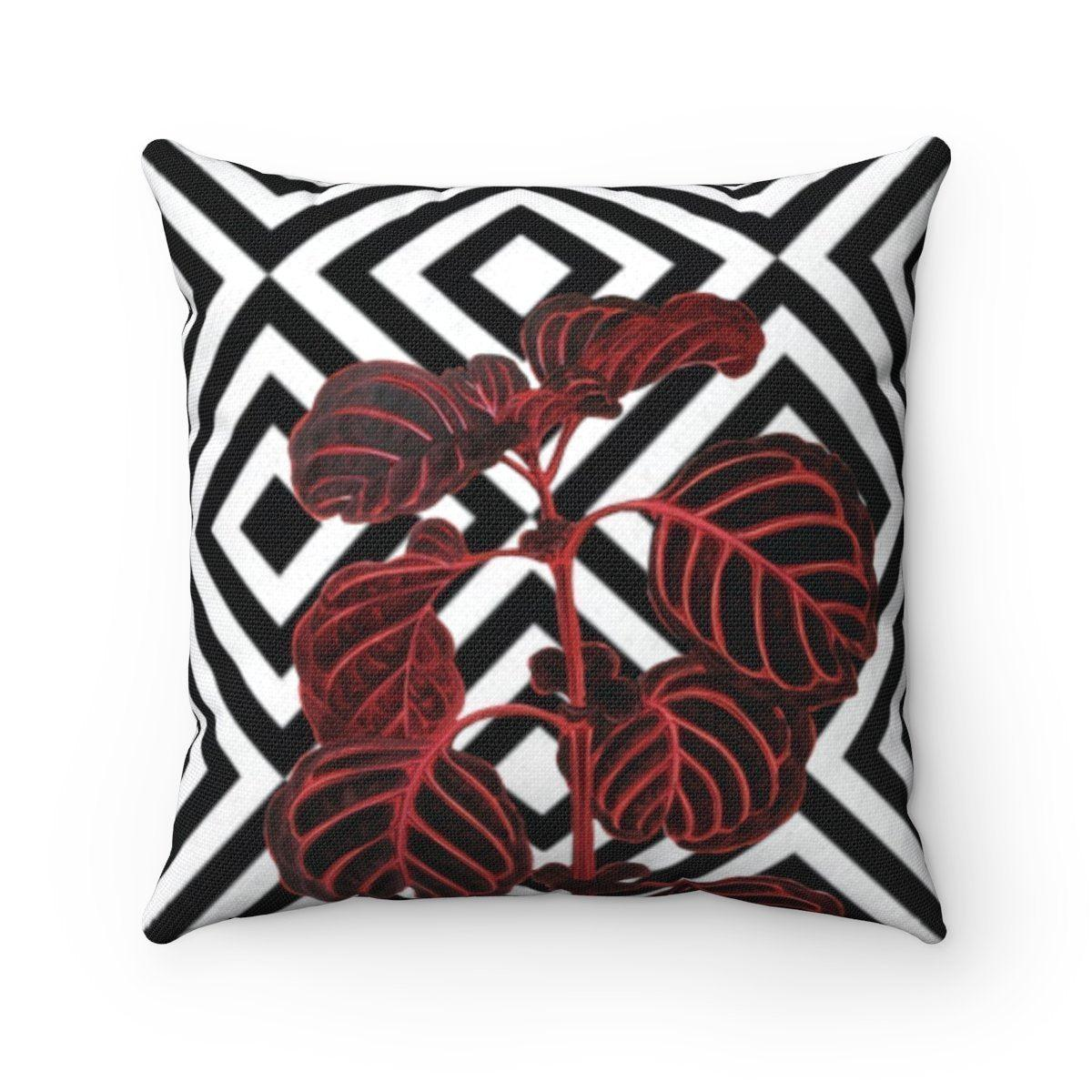 Luxury leaves abstract decorative cushion cover-Home Decor - Decorative Accents - Pillows & Throws - Decorative Pillows-Maison d'Elite-14x14-Très Elite