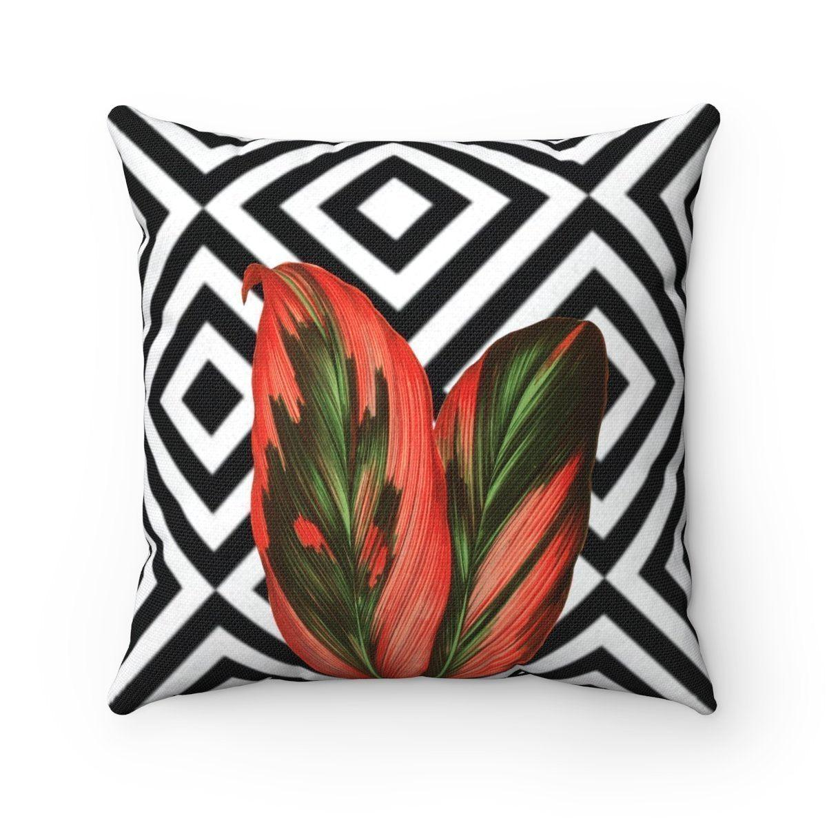 Luxury | leaves | floral abstract decorative cushion cover-Home Decor - Decorative Accents - Pillows & Throws - Decorative Pillows-Maison d'Elite-14x14-Très Elite