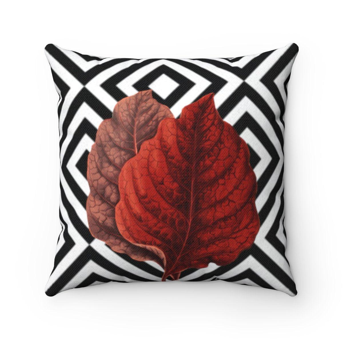 Luxury leaves | floral abstract decorative cushion cover-Home Decor - Decorative Accents - Pillows & Throws - Decorative Pillows-Maison d'Elite-14x14-Très Elite