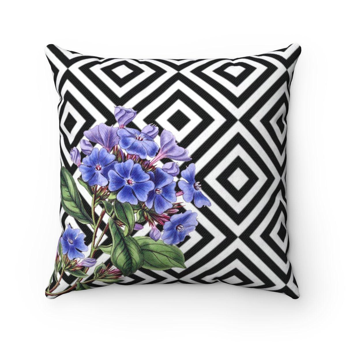Luxury Purple Floral abstract decorative cushion cover-Home Decor - Decorative Accents - Pillows & Throws - Decorative Pillows-Maison d'Elite-14x14-Très Elite