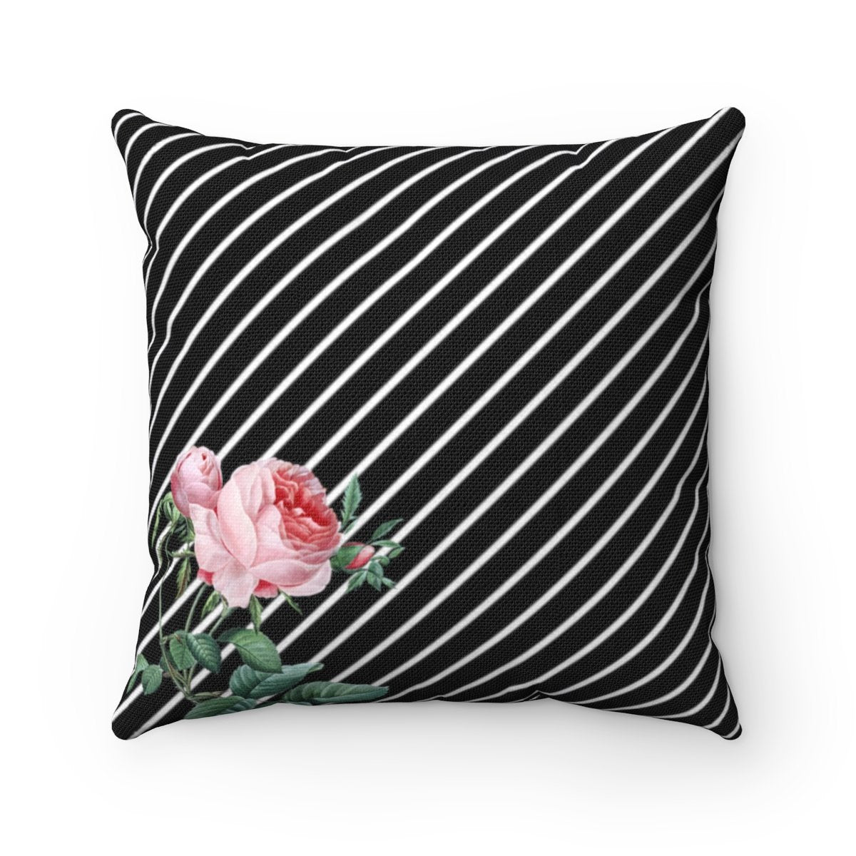 Luxury Rosa Striped Floral decorative cushion cover-Home Decor-Maison d'Elite-14x14-Très Elite