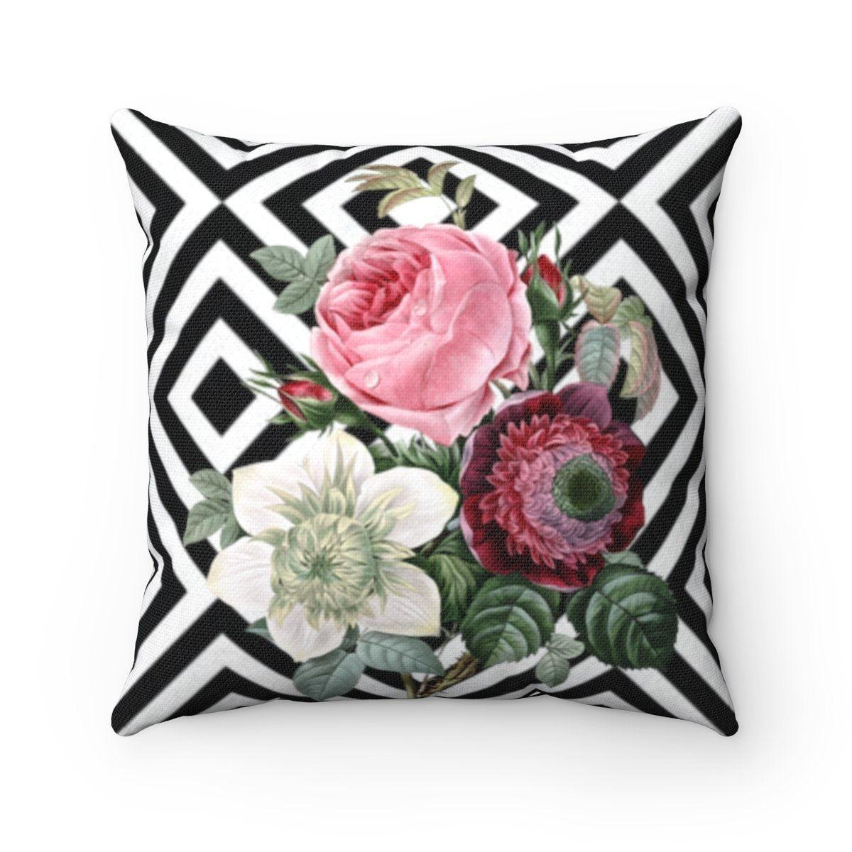 Luxury Rose | Floral abstract decorative cushion cover-Home Decor - Decorative Accents - Pillows & Throws - Decorative Pillows-Maison d'Elite-14x14-Très Elite