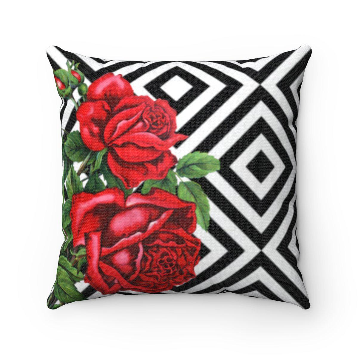 Luxury Roses | Floral abstract decorative cushion cover-Home Decor - Decorative Accents - Pillows & Throws - Decorative Pillows-Maison d'Elite-14x14-Très Elite