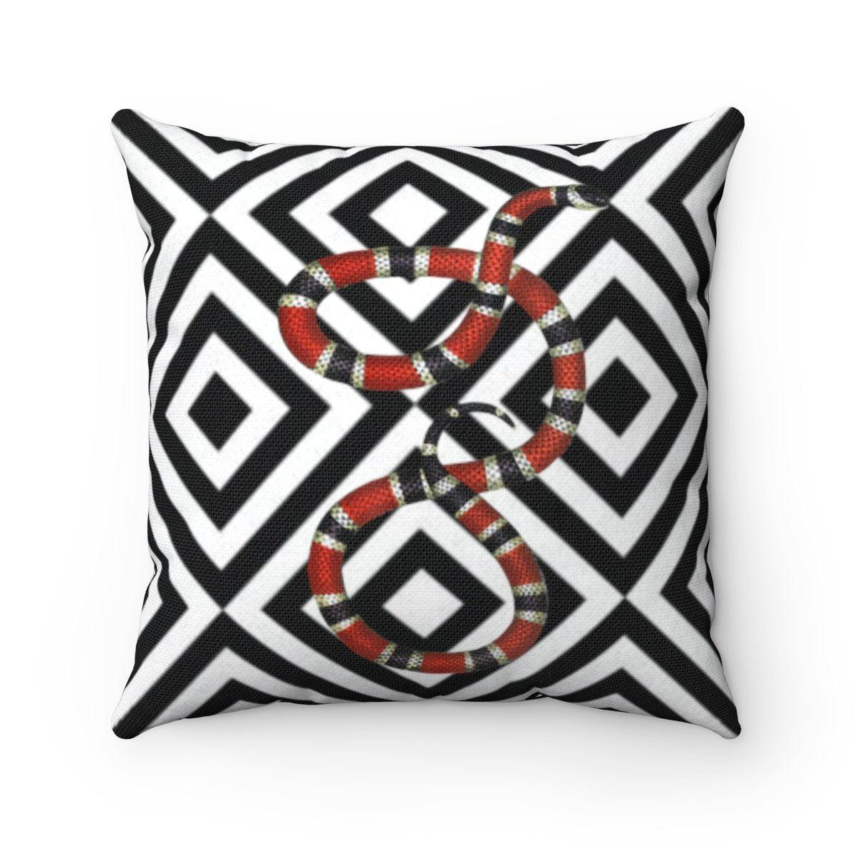 Luxury | snake | tropical | jungle abstract decorative cushion cover-Home Decor-Maison d'Elite-14x14-Très Elite