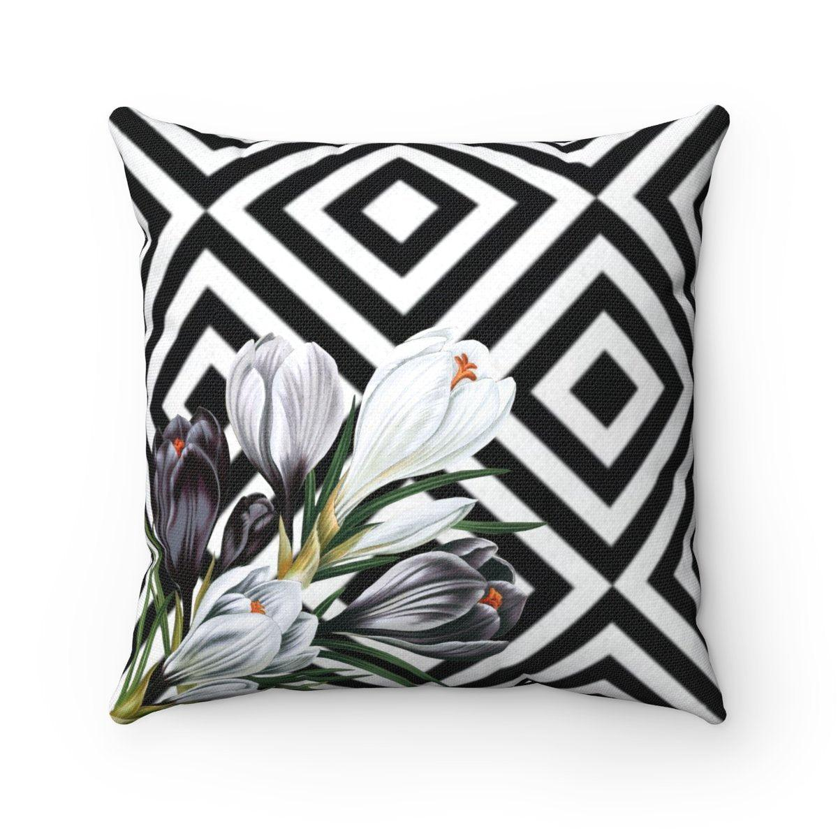 Luxury tulips abstract decorative cushion cover-Home Decor - Decorative Accents - Pillows & Throws - Decorative Pillows-Maison d'Elite-14x14-Très Elite