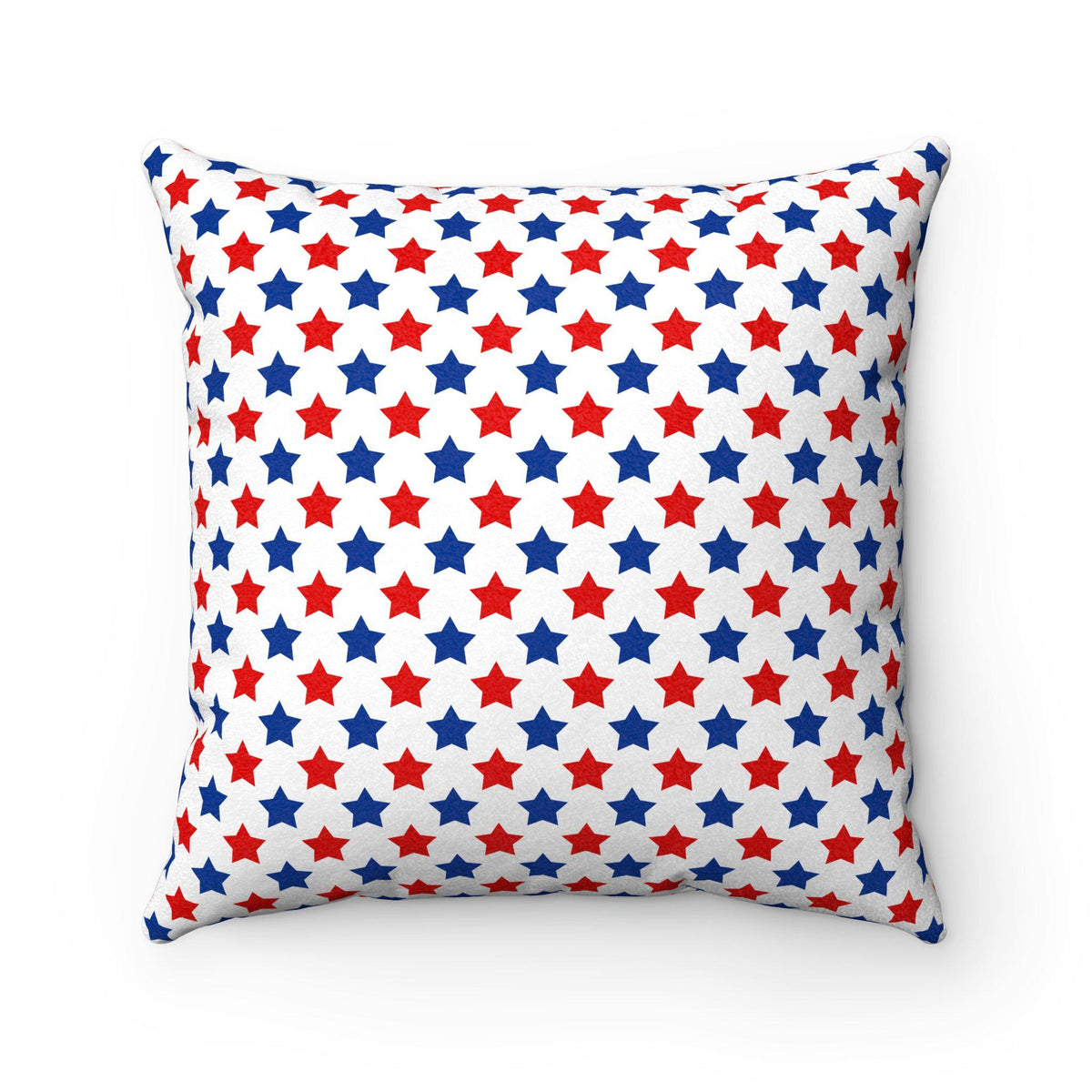 Maison d'Elite American stars decorative cushion-Home Decor - Decorative Accents - Pillows & Throws - Decorative Pillows-Maison d'Elite-14x14-Red/Blue-Faux suede-Très Elite