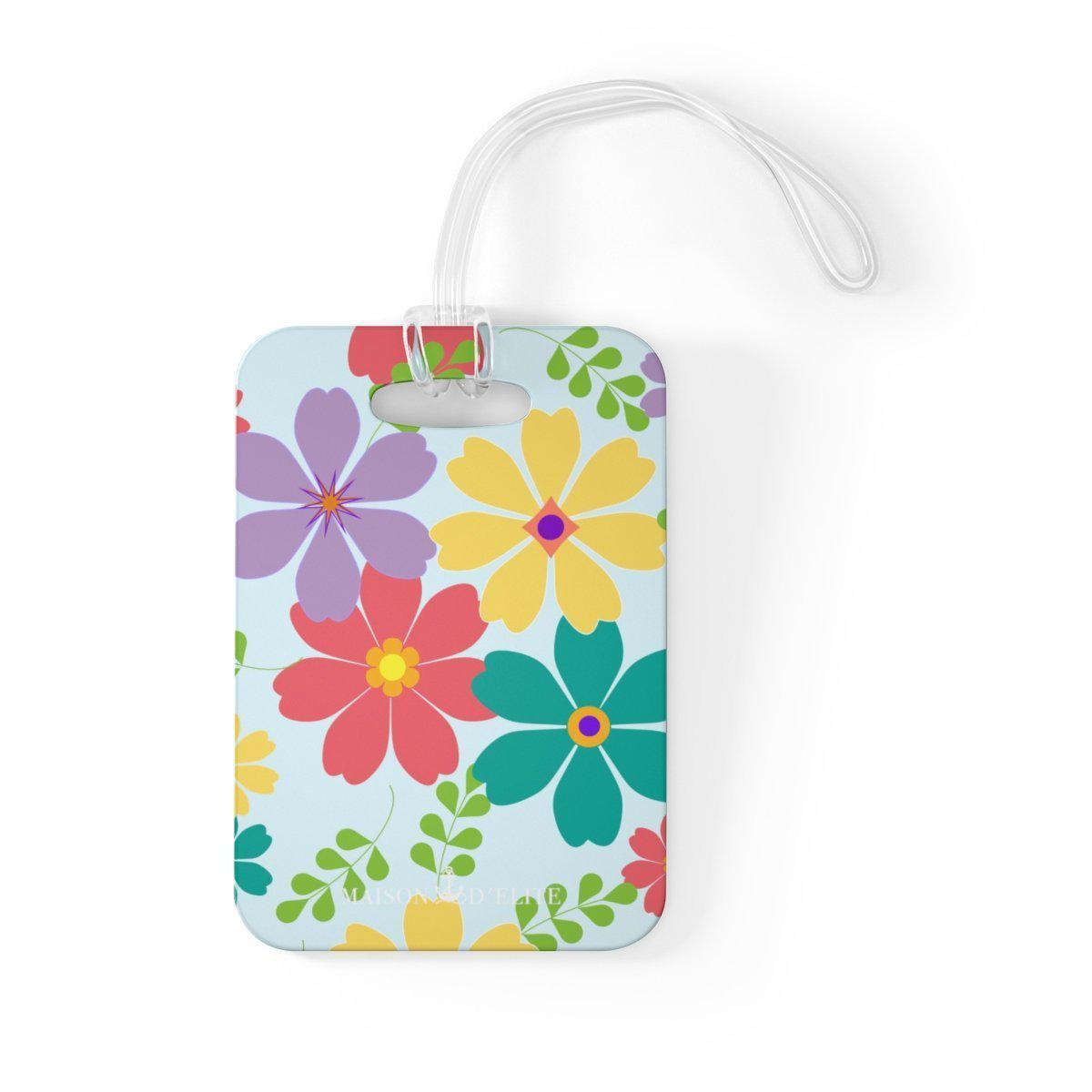 Maison d'Elite Floral Luggage Tag-Luggage & Bags › Travel Accessories › Luggage Tags-Maison d'Elite-One Size-Très Elite