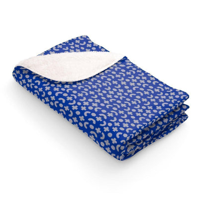 Maison d'Elite Geometric Sherpa Fleece Blanket-Home - Throws & Blankets-Maison d'Elite-50x60-Très Elite