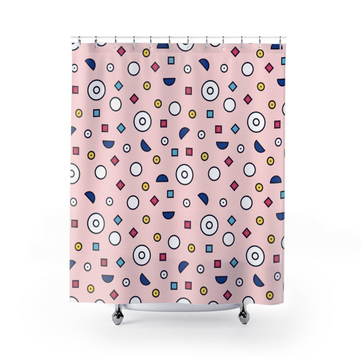 Maison d'Elite Geometric Shower Curtain-Bath - Bathroom Accessories - Shower Accessories - Shower Curtains-Maison d'Elite-71x74-Très Elite