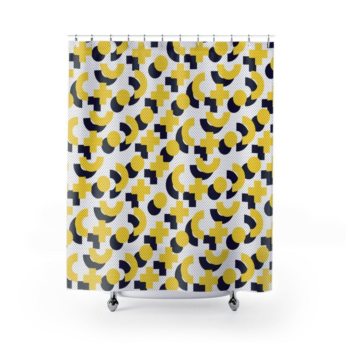 Maison DElite Geometric Shower Curtain