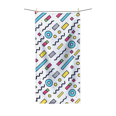 Maison d'Elite Geometric Terry Beach Towel-Bath - Bath Linens - Bath Towels-Maison d'Elite-Très Elite