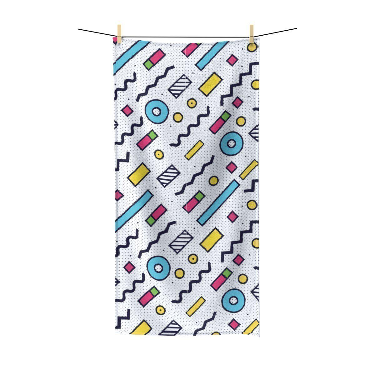 Maison d'Elite Geometric Terry Beach Towel-Bath - Bath Linens - Bath Towels-Maison d'Elite-30x60-Très Elite