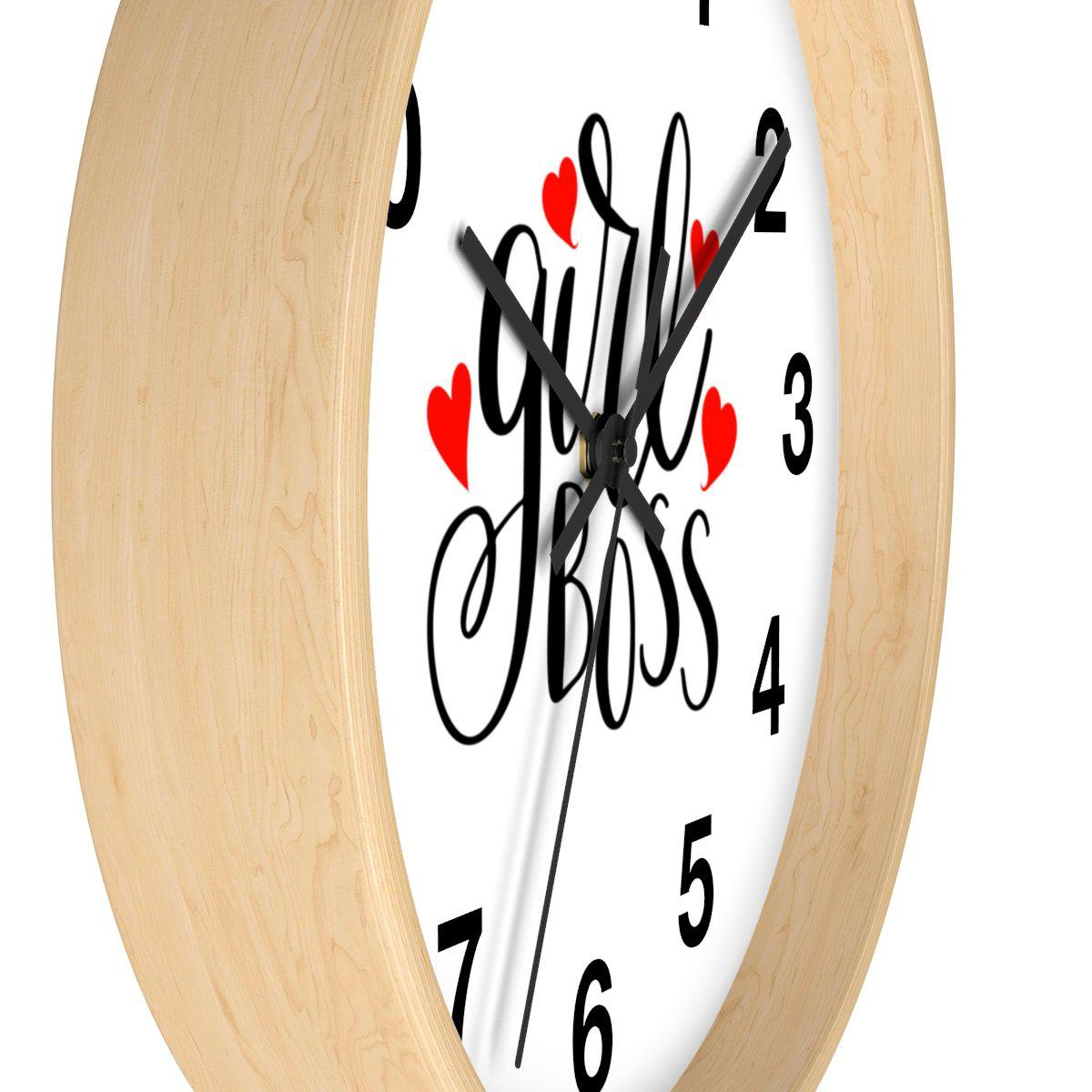 Maison d'Elite Girl Boss Wall clock-Home - Clocks - Wall clocks-Maison d'Elite-Très Elite