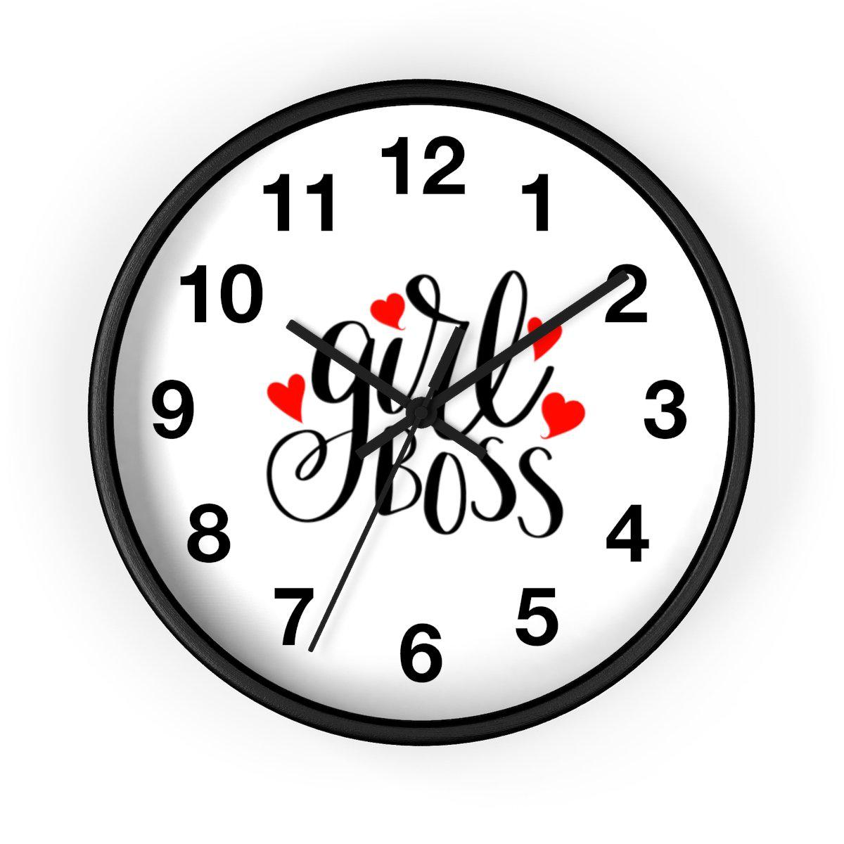 Maison d'Elite Girl Boss Wall clock-Home - Clocks - Wall clocks-Maison d'Elite-Black-Black-Très Elite