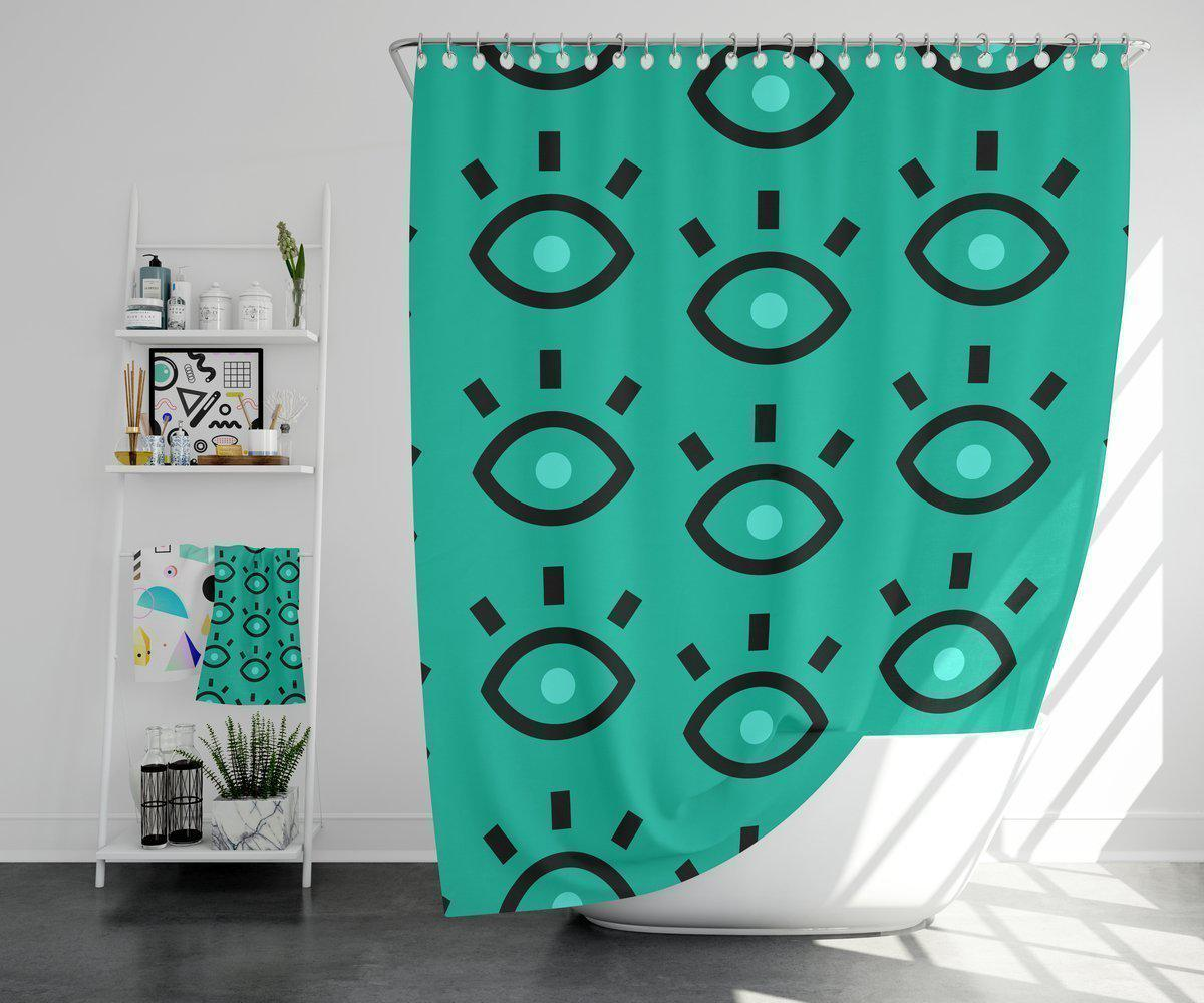 Maison d'Elite Modern Shower Curtain-Bath - Bathroom Accessories - Shower Accessories - Shower Curtains-Maison d'Elite-71x74-Très Elite