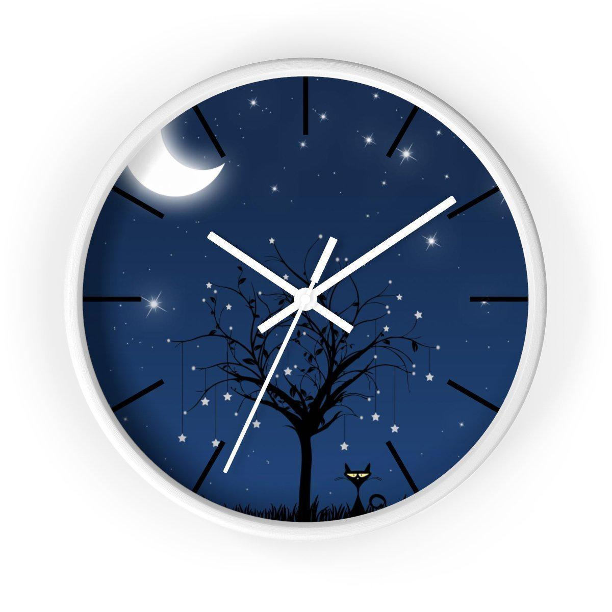 Maison d'Elite Moonlight Wall clock-Home Décor › Accents › Wall Decor › Clocks & Sculptures-Maison d'Elite-White-White-Très Elite