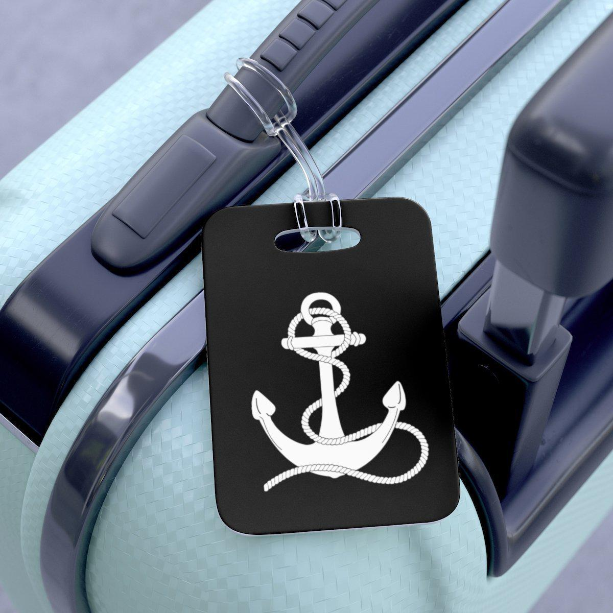 Maison d'Elite Nautica Anchor Symbol Luggage Tag-Luggage & Bags › Travel Accessories › Luggage Tags-Maison d'Elite-One Size-Très Elite