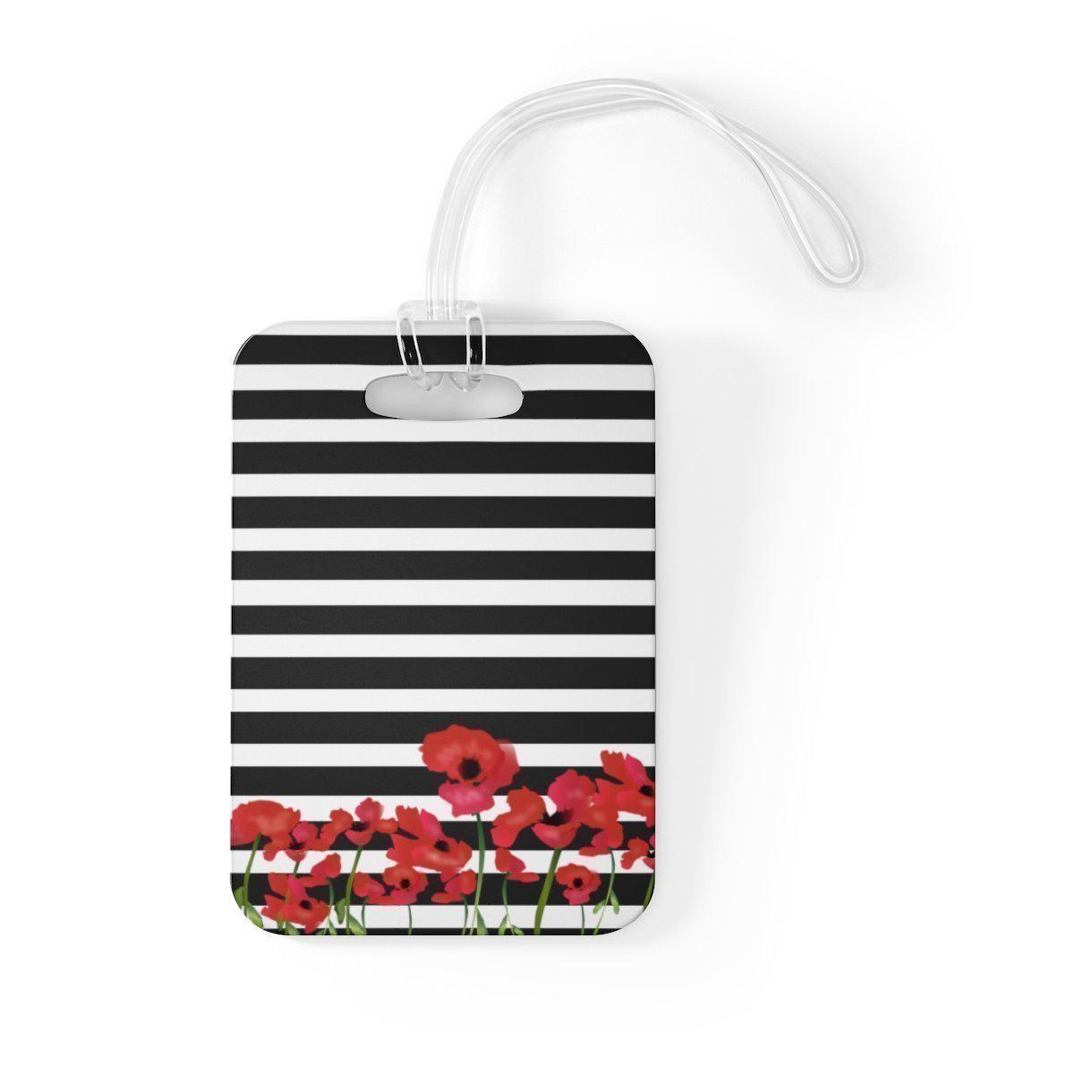 Maison d'Elite Pansies Luggage Tag-Luggage & Bags › Travel Accessories › Luggage Tags-Maison d'Elite-One Size-Très Elite