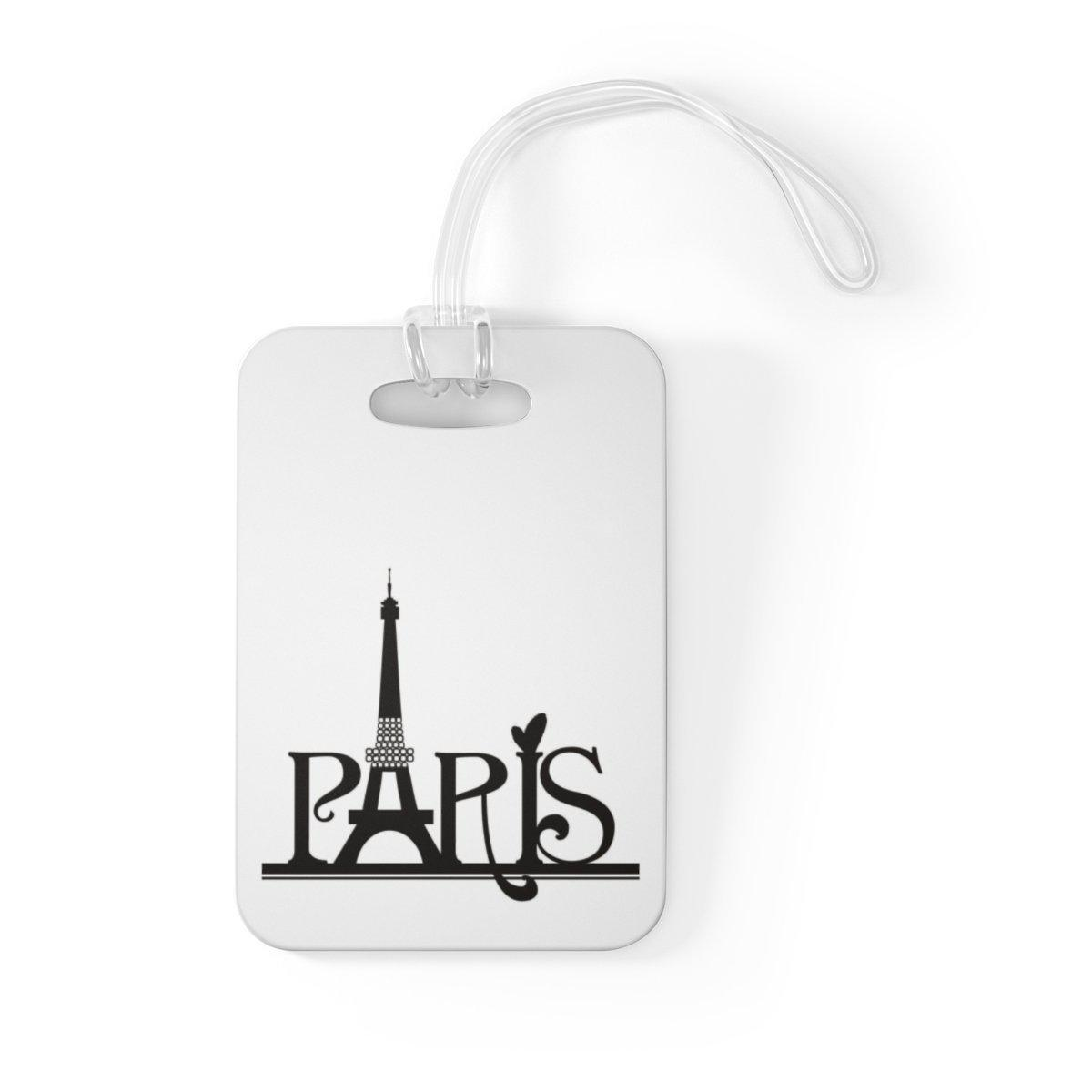 Maison d'Elite Paris Typo Luggage Tag-Luggage & Bags › Travel Accessories › Luggage Tags-Maison d'Elite-One Size-Très Elite