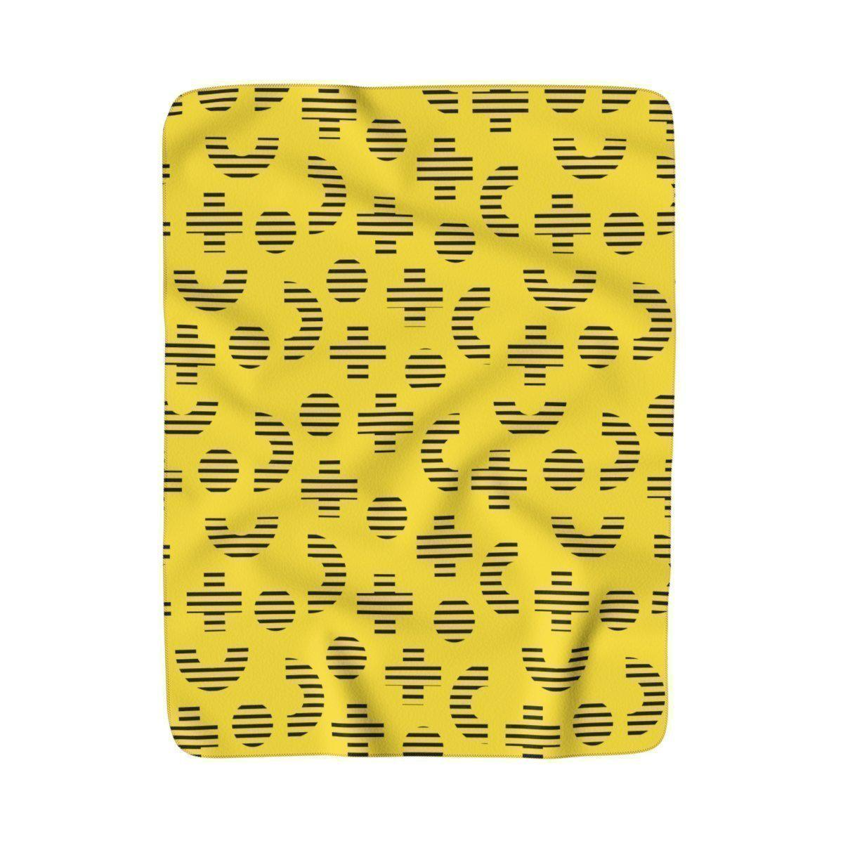 Maison d'Elite Retro Memphis Sherpa Fleece Blanket-Home - Throws & Blankets-Maison d'Elite-50x60-Très Elite