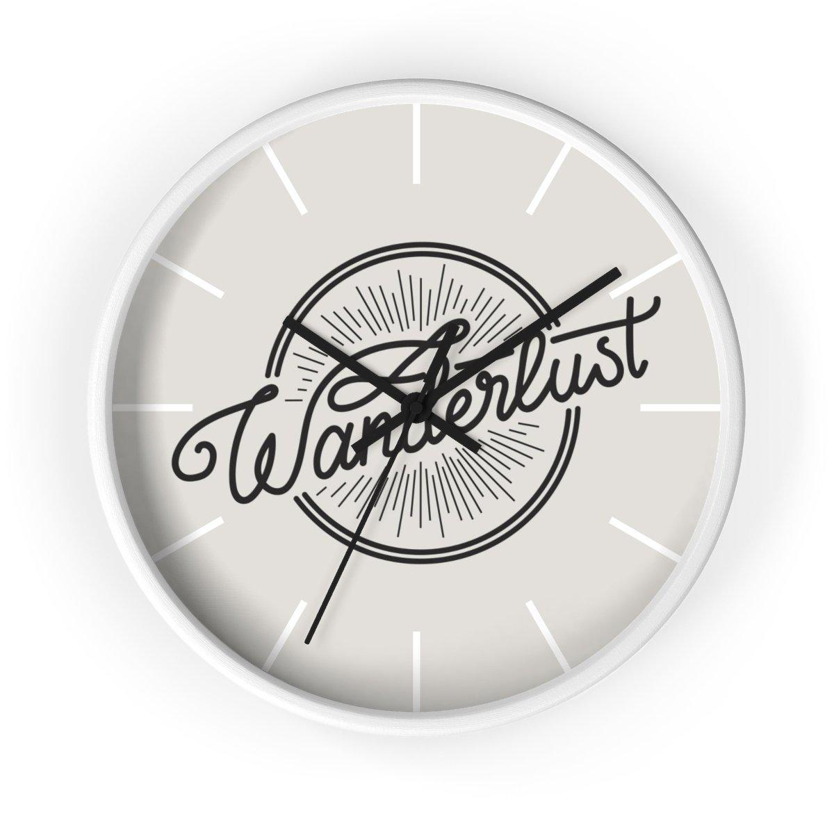 Maison d'Elite Wanderlust Wall clock-Home Décor › Accents › Wall Decor › Clocks & Sculptures-Maison d'Elite-White-Black-Très Elite