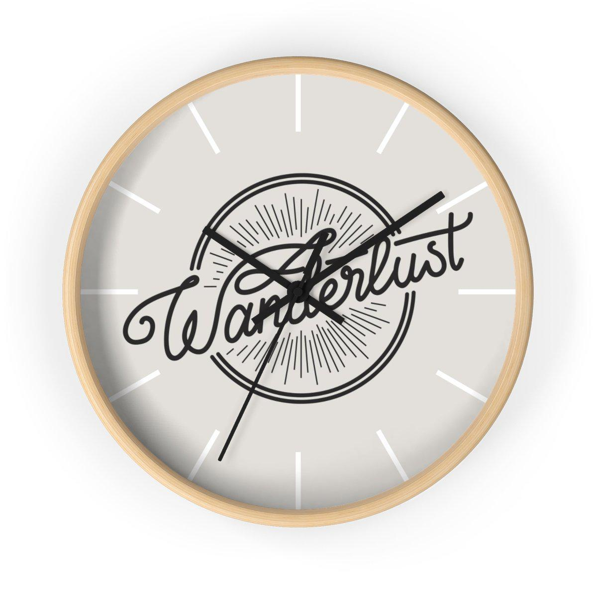 Maison d'Elite Wanderlust Wall clock-Home Décor › Accents › Wall Decor › Clocks & Sculptures-Maison d'Elite-Wooden-Black-Très Elite