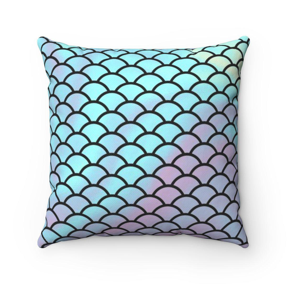 Mermaid scales hologram abstract nautical decorative cushion cover-Home Decor - Decorative Accents - Pillows & Throws - Decorative Pillows-Maison d'Elite-14x14-Très Elite