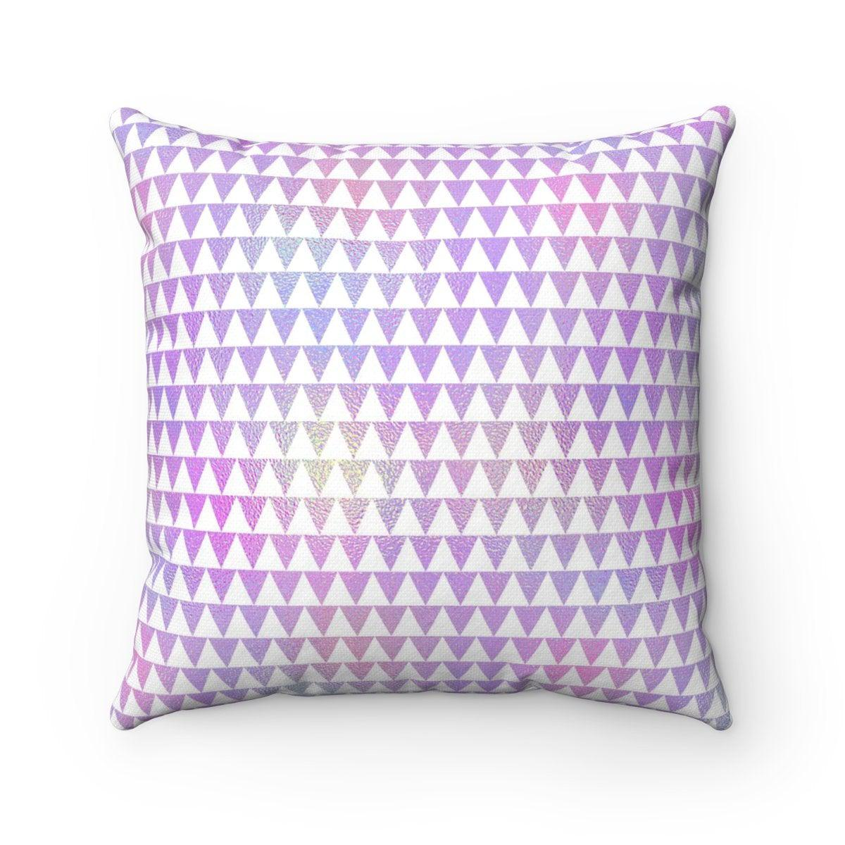Minime Hologram Triangle geometric decorative cushion cover-Home Decor - Decorative Accents - Pillows & Throws - Decorative Pillows-Maison d'Elite-14x14-Très Elite