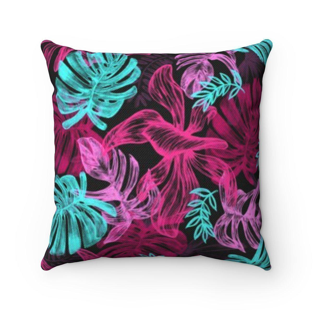 Modern tropical leaves decorative cushion cover-Home Decor - Decorative Accents - Pillows & Throws - Decorative Pillows-Maison d'Elite-14x14-Très Elite