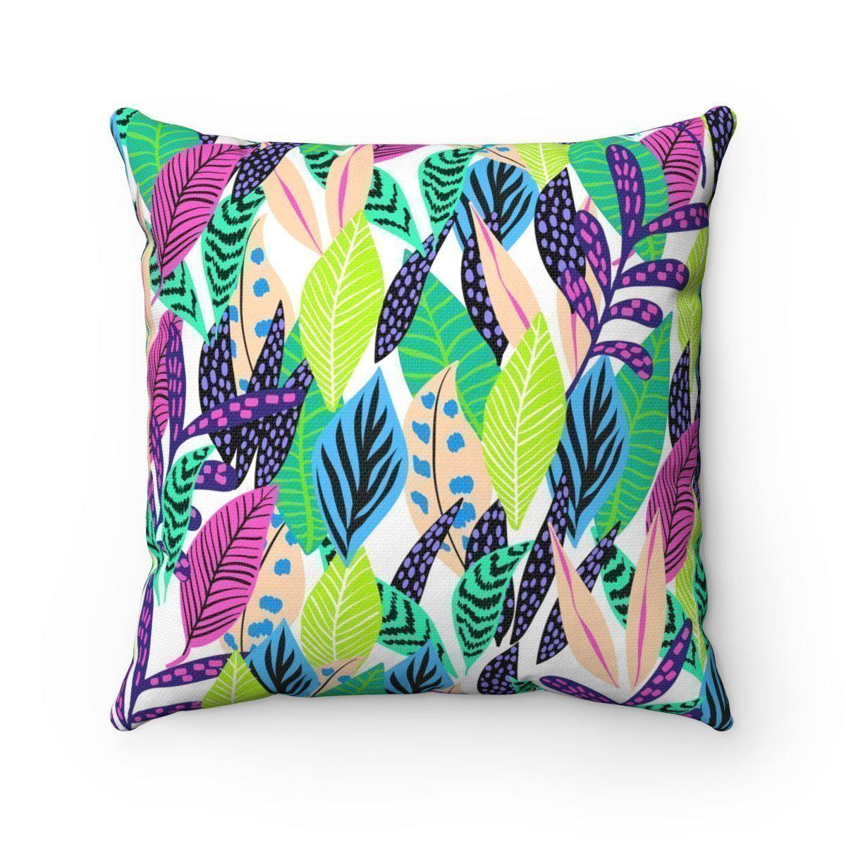 Modern tropical leaves jungle decorative cushion cover-Home Decor - Decorative Accents - Pillows & Throws - Decorative Pillows-Maison d'Elite-14x14-Très Elite