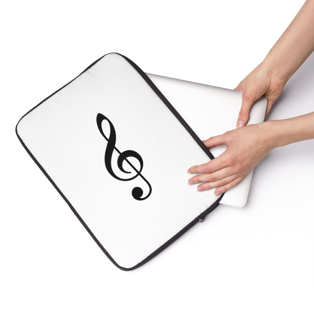 "Music key Laptop Sleeve-Tech - Accessories - Laptop Sleeves-Printify-13""-Très Elite"