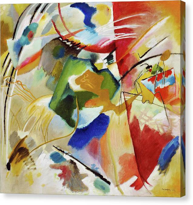 Painting with Green Center by Wassily Kandinsky - Canvas Print