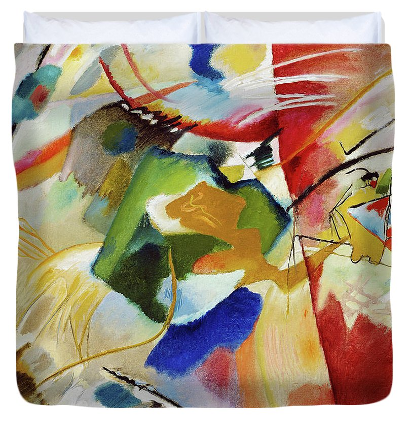 Painting with Green Center by Wassily Kandinsky - Duvet Cover