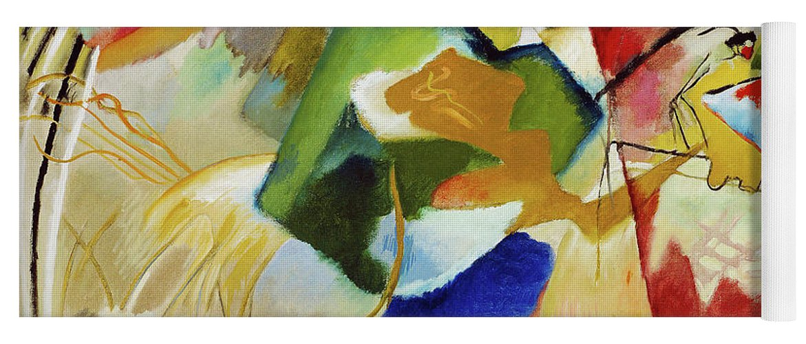 Painting with Green Center by Wassily Kandinsky - Yoga Mat