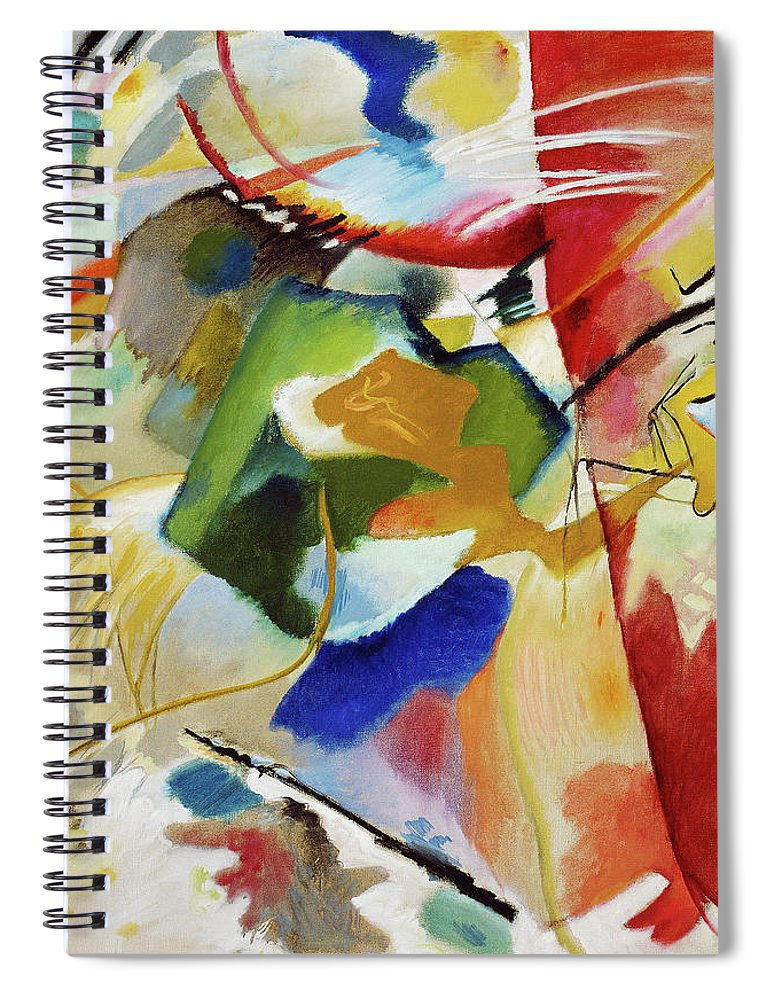 Painting with Green Center by Wassily Kandinsky - Spiral Notebook