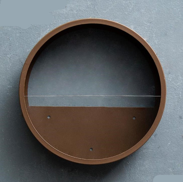 Creative Iron +Glass Round Hanging Wall planter