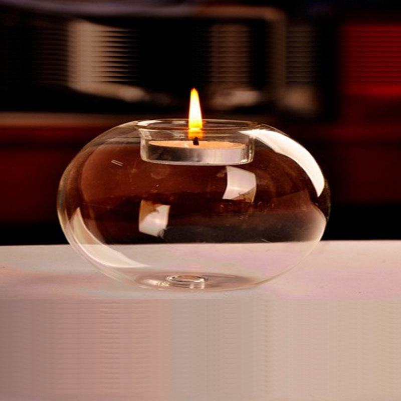 1Pcs New Fashion Glass Candle Holder