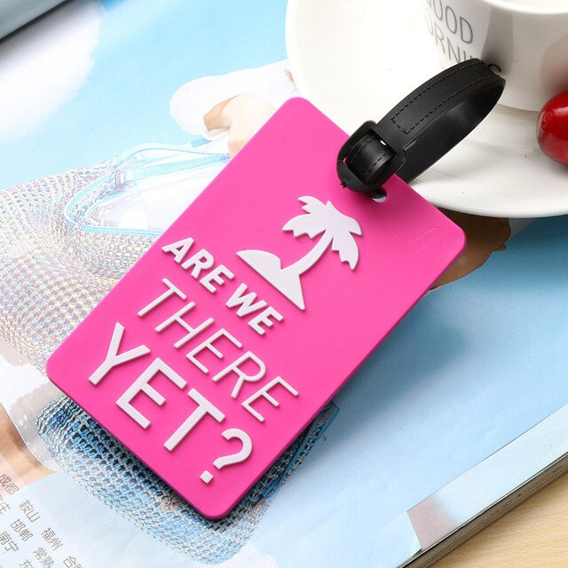 Travel Accessories Silica Gel Luggage Tags Creative Cartoon Color Suitcase ID Address Holder Baggage Boarding Tag Portable Label
