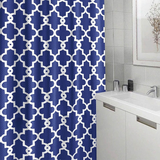 Geometric Shower Curtain Waterproof 100% Polyester