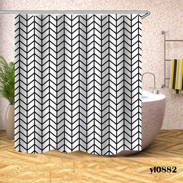 Shower Curtain Geometric Plaid