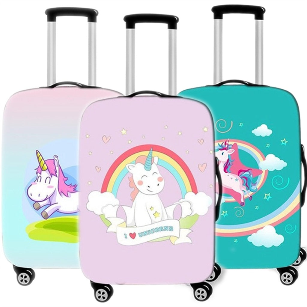 Protective Cartoon Animal Unicorn Luggage Cover 18-32 Inch