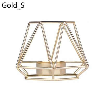 Nordic Style Wrought Iron Geometric Candle Holders Home Decorate Metal Crafts candlestick candelabros de velas Holder centro