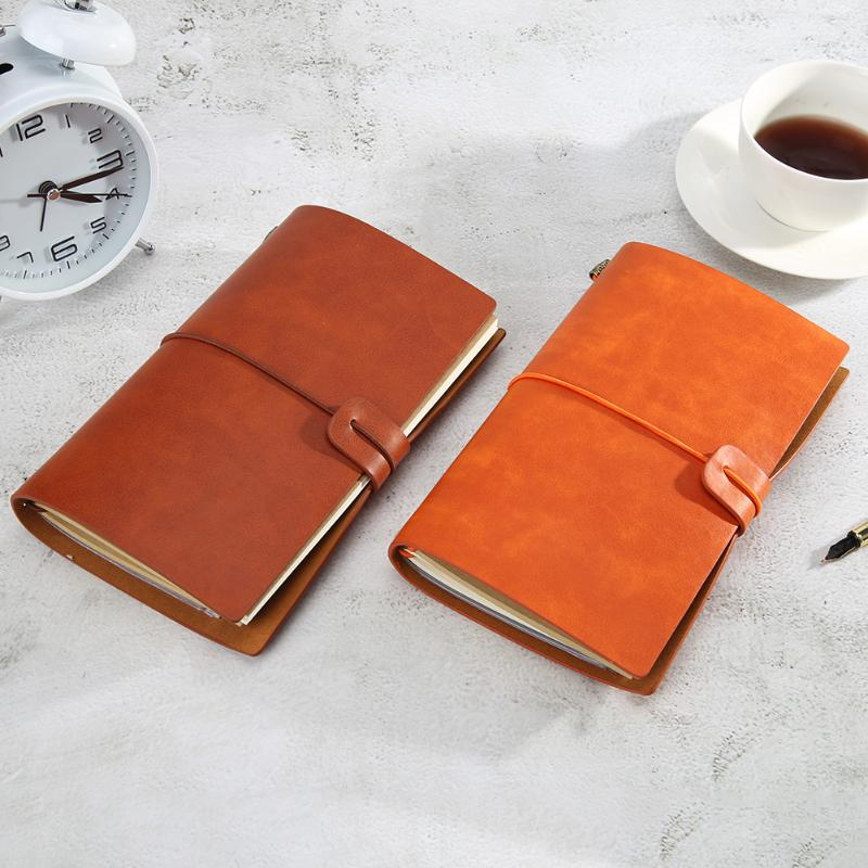 PU Leather Loose-leaf Notebooks Retro Vintage