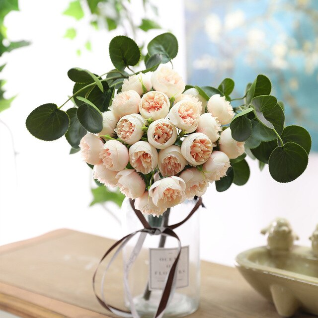 27 head/bundle cute small tea buds roses